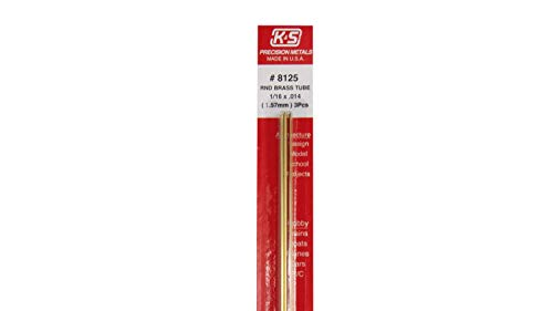 K/&S Precision Metals 9209 Round Brass Tube 5 pc 1//4 OD x 0.029 Wall Thickness x 36 Length Made in USA