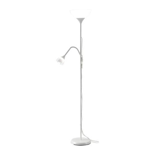 Ikea IKEANOT-Floor Floor Uplighter/Reading Lamp, White
