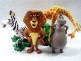Set of 4 Madagscar 3 to 4 Figures Featuring Gloria the Hippo, Alex the Lion, Marty the Zebra, and Melman the Hypochondriac Giraffe by Madagascar]()