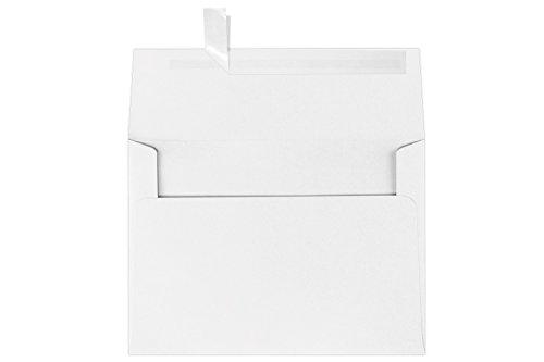 A7 Invitation Envelopes w/Peel and Press (5 1/4 x 7 1/4) - (Brilliant White Envelopes)