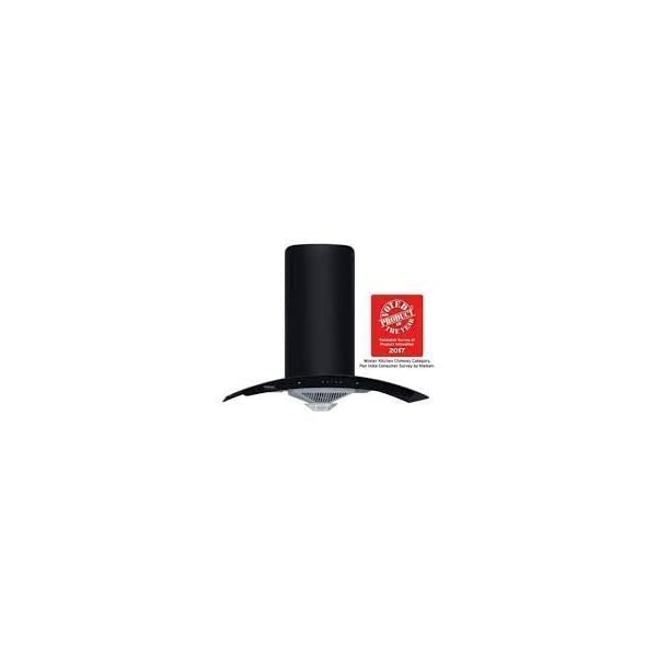 Hindware Zavio 90 (1280 m3/h) Auto Clean Chimney, 900mm (Black)