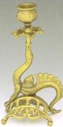 JT Brass Griffin Candle Stick