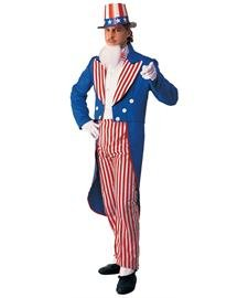 Rubie's Deluxe Adult Uncle Sam Costume, Blue, X-Large -