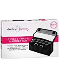 Studio 35 Beauty 10 Piece Travel Curlers - Rollers Ceramic Heated