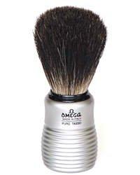 Omega Aluminum Barrel Badger Hair Shaving Brush - #6230