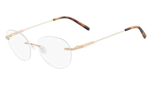Óculos Airlock Caliber 204 710 Ouro Lente Tam 51