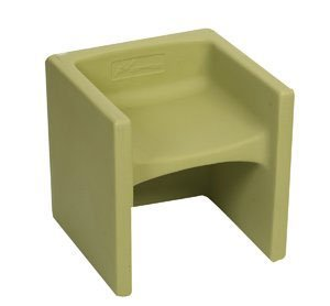 Children's Factory Chair Cube in Fern by Children's Factory