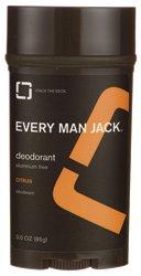 Every Man Jack - Déodorant stick aluminium Citrus Gratuit - 3 oz