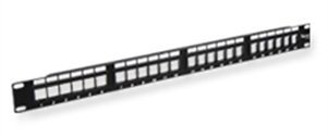 Icc Patch Panel, Blank, Ez, 24-Port, 1 Rms