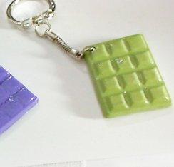 1 llavero de polímero, con GOURMANDE. Mini, diseño de ...