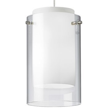 Suspensions Mini Pendant Holder - Mini Echo Mini-Pendant, Satin Nickel - 700MOECPSS Ceiling Lamp Vintage Industrial Hanging Shade Cage Meta CHOOSEandBUY