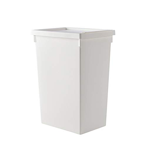 22/32L PP Laundry Baskets Hampers Dirty Clothes Storage Bucket Box Bathroom Laundry Bins with Lid (Size : 22L) ()