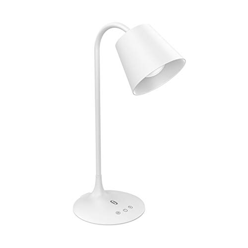 TaoTronics TT-DL061 LED Desk Lamp for Office Home Lighting, 3 Color Modes with Gradual Dimming, 1 Hour Timer Touch Control, Memory Function, Official Member of Philips Enabled Licensing Program (Task Lamp White)