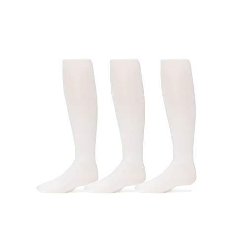 Trimfit Girls Microfiber Tights 3-Pack (6-8, White) ()