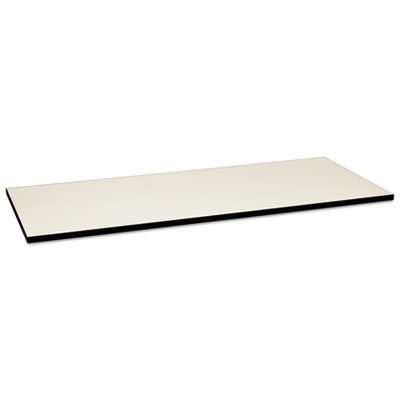 Huddle Multipurpose Rectangular Top, 72w x 30d, Silver Mesh/Black, Sold as 1 Each