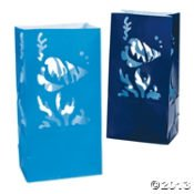 Under The Sea Luminary Bags/Party Supplies/Wedding/Paper