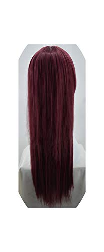 Black Wig Sheep Store Synthetic Heat Resistant Long Straight Middle Part Line Costume Cosplay Hair 26 Inches Salon Party Hairpieces,Bug,26Inches -