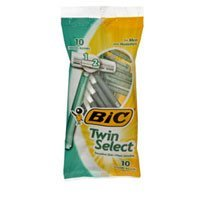 - Bic Bic Twin Select Shavers For Men Sensitive Skin, 10 each (Pack of 2)