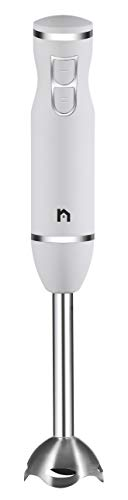 New House Kitchen Immersion Hand Blender 2 Speed Stick Mixer with with with Stainless Steel Shaft & Blade, 300 Watts Easily Food, Mixes Sauces, Purees Soups, Smoothies, and Dips, Ivory