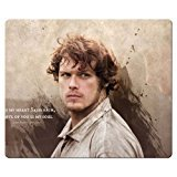 Soft Fabric Surface Outlander Rubber Cloth Game Mousepad 30x25cm 12x10inch