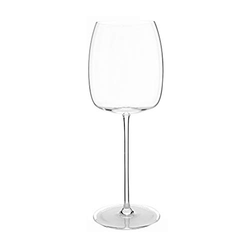 Hand Blown Crystal Wine Glasses - Crystal Glass Forte Stemware Collection Burgundy Classy Red/White Wine Glass 13.6 Oz, 9