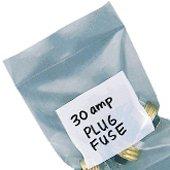 Interplas PBW41012 4 Mil White Block Poly Bags, LDPE, 12'' Height, 10'' Width (Case of 1000)