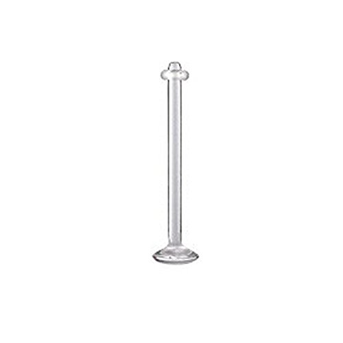 Urban Male Clear Acrylic Labret Barbell Retainer 1.6mm Gauge - 19mm Long