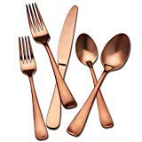 - Hampton Signature Melody Satin Copper Flatware 20 piece set
