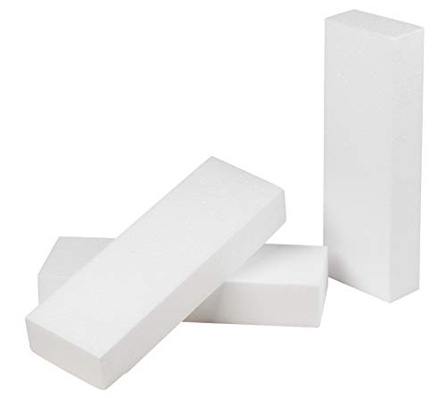 Juvale Craft Foam Blocks 12 Pack - Styrofoam Rectangle Craft Blocks Floral Foam Perfect for Crafting, Modeling, Sculpture, DIY Arts and Flower Foam -White 12 x 4 x 2 Inches