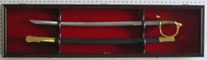 Mahogany Sword Display Case Cabinet Stand Holder Wall Rack Box With Lock by Display Case