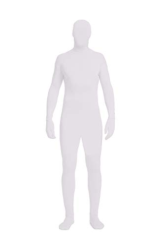 Full Bodysuit Unisex Lycra Spandex Stretch Adult Costume Zentai Disappearing Man Body Suit (X-Large, White) -