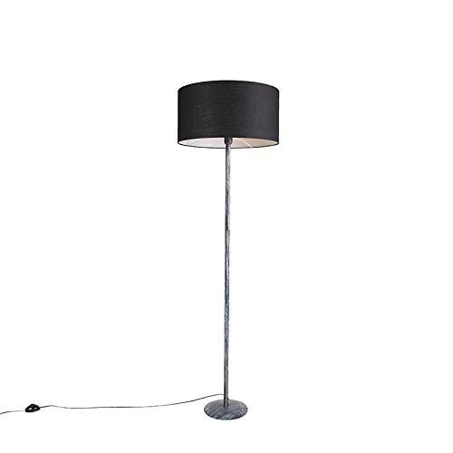QAZQA rústico Lámpara de pie moderna gris envejecido con ...