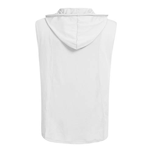 A Homme Sweat Blanc Tee Ihaza À shirt Sans Été Capuche Débardeur Pour Sport Décontracté Manches OxAqwAE7R