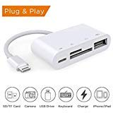 BOOTOO TECH Lightning to SD Card Reader, Lightning to USB Camera Adapter, Trail Game Camera Card Viewer Reader for iPad Mini Air Pro and iPhone X/8/8plus/7/7plus/6/6s/6plus/6s plus/5/5c/5s