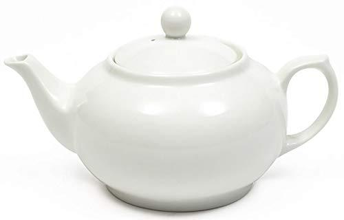 Maxwell & Williams White Basics - Tetera (porcelana, 800 ml), color blanco