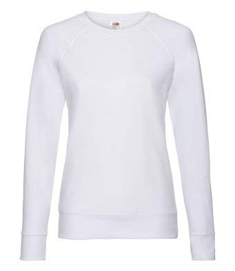 c805e72a Fruit of the Loom Lady Fit Lightweight Raglan Sweatshirt: Amazon.co.uk:  Business, Industry & Science