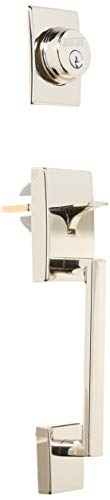 Schlage F58-CEN Century Single Cylinder Exterior Entrance Handleset from The F-S, Polished ()