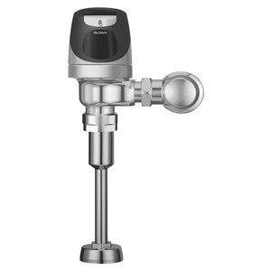 Sloan SOLIS 8186-0.13 SOLIS Exposed, Solar Powered, Automatic Urinal Flush Valve - 0.13 GPF High Efficiency