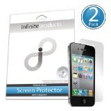 (Infinite Products DeflectorShield Screen Protection Film for iPhone 4 - AT&T and Verizon - 2 Pack - Retail Packaging - Anti-Fingerprint )