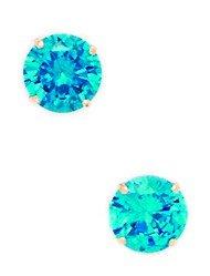 Dezember-Geburtsstein, 14 Karat GelbGold, 6 mm, rund, Zirkonia, Set Ohrringe JewelryWeb