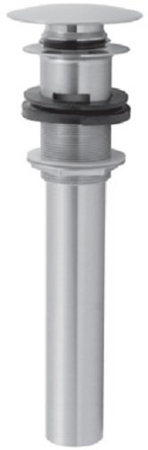 Jaclo 828-DP-PCH P.O. Style Round Top Finger Touch Drain with Overflow Holes, Polished - Supply Jaclo