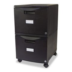 * Two-Drawer Mobile Filing Cabinet, 14-3/4w x 18-1/4d x 26h, Black