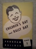 Children's Day and Rally Day, Program Builder, Number 2