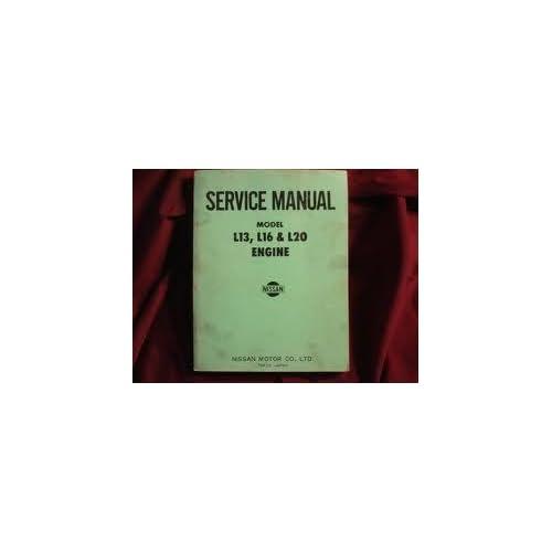 Service Manual Model L13 L16 L20 Engines Nissan Motor Co