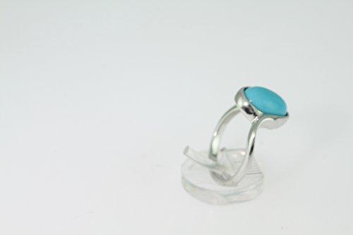 Bague en Turquoise 38-10 - Bijoux en argent rhodié et Turquoise - Toutes tailles et diverses pierres - ARTIPOL