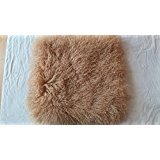 (hbyc Camel Mongolian Tibetan Lamb Fur Throw Pillow Cushion Cover Pillowcase (11
