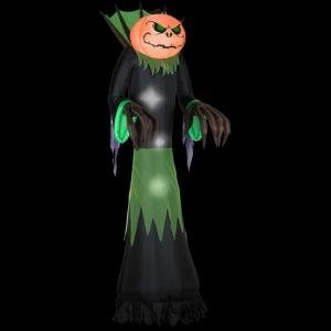 halloween decoration lawn yard inflatable airblown pumpkin reaper light up 10 tall - Light Up Halloween Decorations