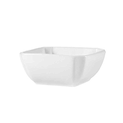 CAC China KSE-B105 Kingsquare 16-Ounce Super White Porcelain Square Bowl, 5 by 5 by 2-Inch, 36-Pack by CAC China