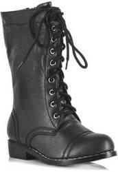 Ellie Shoes - Combat Child Boots, Black, Small (11/12) (Combat Child Boots)