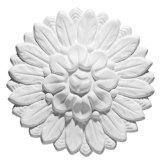 Large Chantilly Rosette 155 MM, 6 1/8 Inch Diameter by 1 3/8 Inch Projection, Primed White ARSTYL R3 by ()